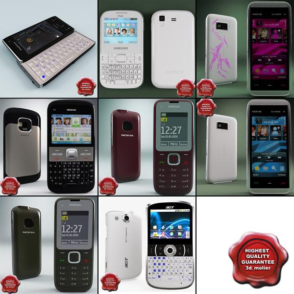 cellphones 50 3d model