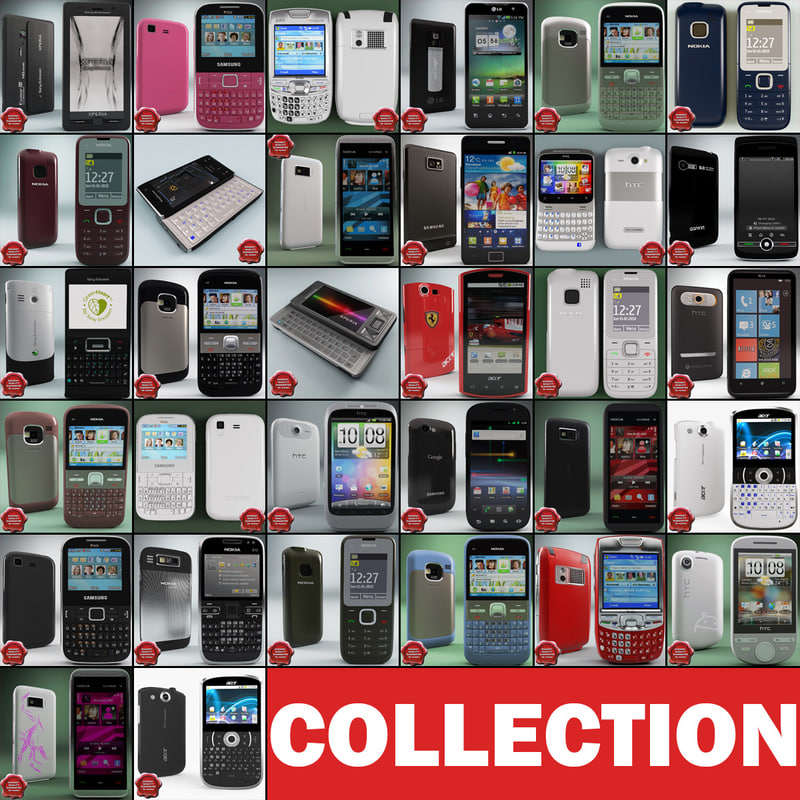 3d cellphones set nokia model