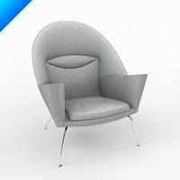 3d ch468 lounge chair hans wegner