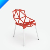 chair stacking konstantin grcic 3d model