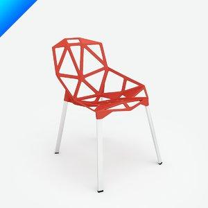 chair stacking konstantin grcic 3d model