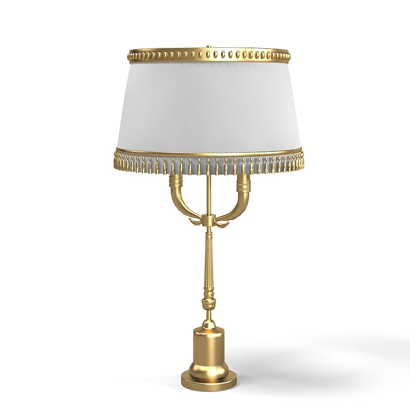 3d model of classic table lamp