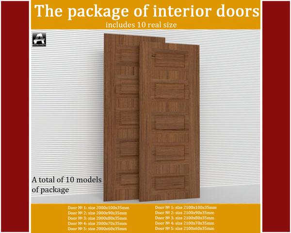 package interior doors 3d max