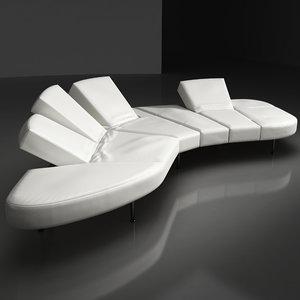 max edra flap sofa contemporary