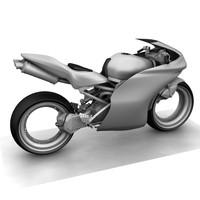 3d concept motorbike