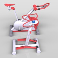 3d fitness exercise machines model