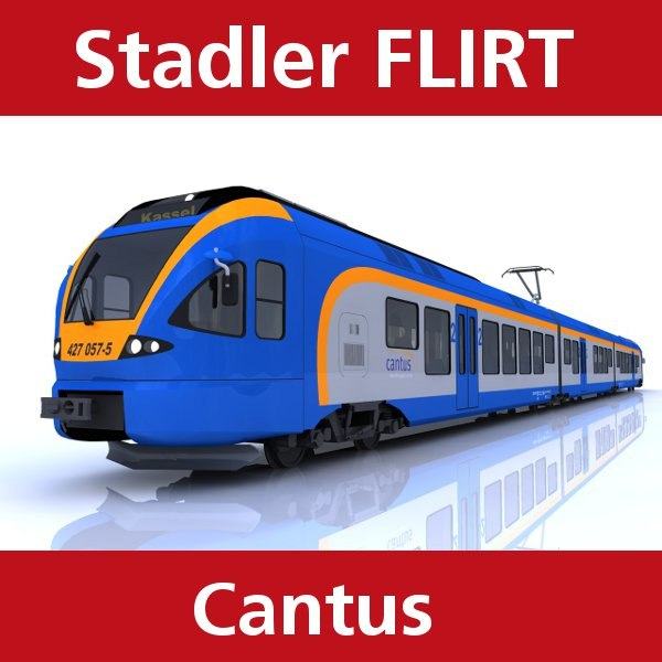 3d model flirt passenger train cantus