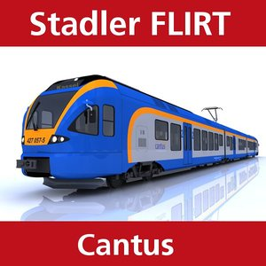 3d model flirt passenger train cantus