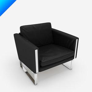 ch101 lounge chair hans wegner 3d obj
