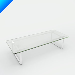 3d model ch108 coffee table hans wegner