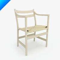 3d ch46 hans wegner chair classic model