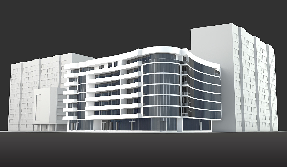 Building used 3d max for 3d max building