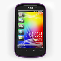 htc explorer purple 3d model
