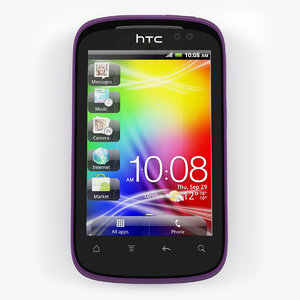 htc explorer purple 3d model