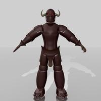 3d model knight dark