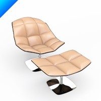 3d model jehs laub lounge chair