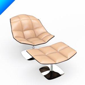 3d model jehs laub lounge chair