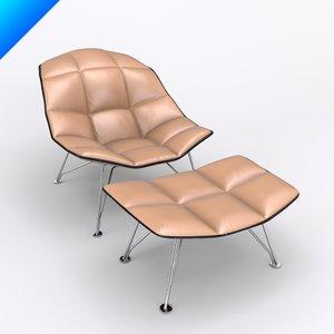jehs laub lounge chair 3d model