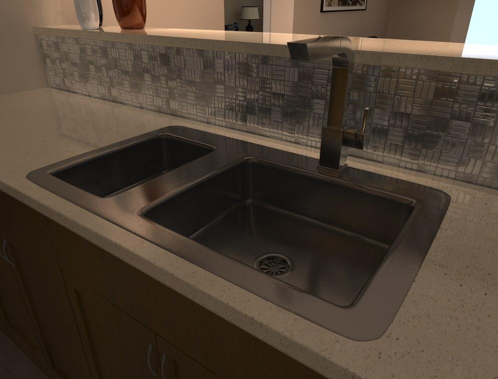 3d model kitchen sink tap