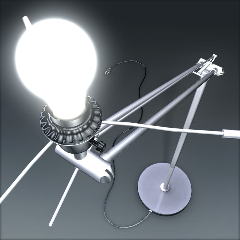 freestanding lamp 3d model