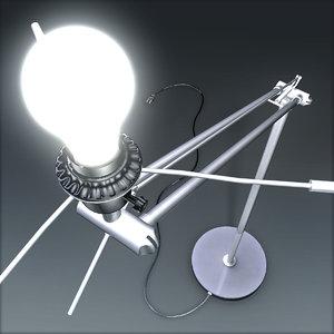 freestanding lamp 3d model