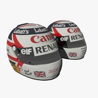 Nigel Mansell 1992 & 1991 Helmets