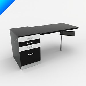 marcel breuer writing desk 3d model