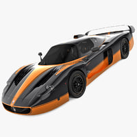 3d maserati mc12 rigged v2