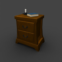 3d max nightstand drawers