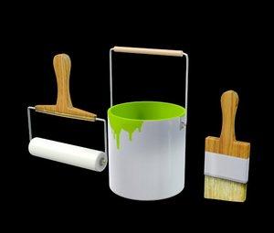 paintbuckets paint buckets 3d model