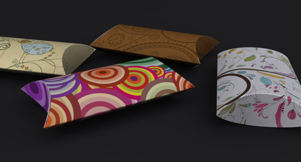 pillow box 3d model