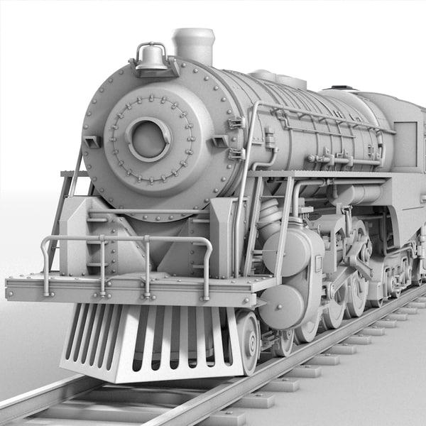 3ds realistic berkshire steam locomotive