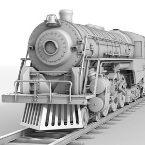 3ds realistic berkshire steam locomotive