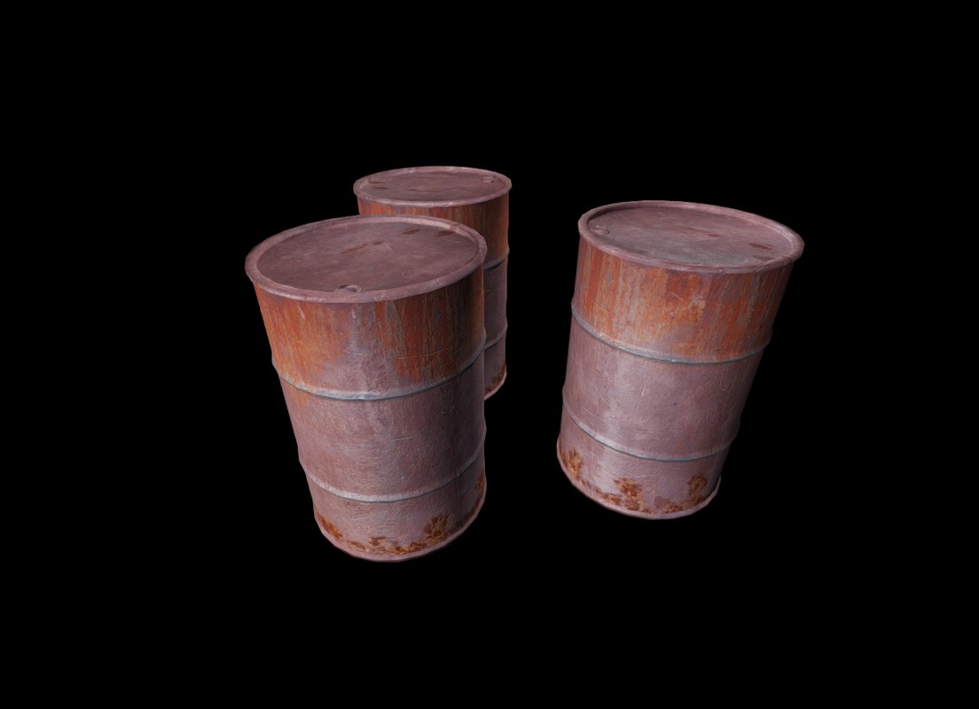 3d model of rusty barrel
