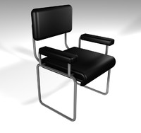 silla chair soft 3d model