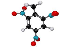 3d 2 trinitrotoluene - molecule