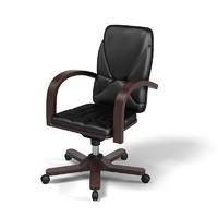 swivel leather executive 3d model