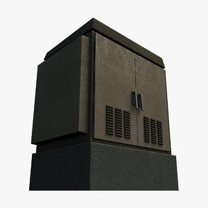 traffic signal control cabinet 3d max
