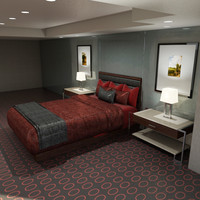 3d model bed - nightstands pictures
