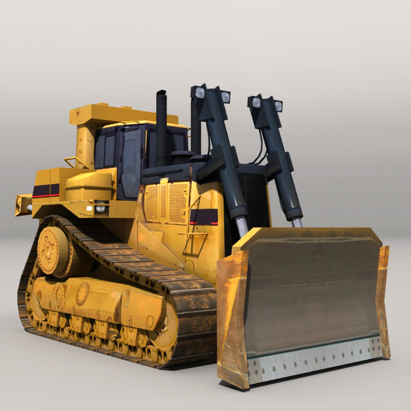 3d model bulldozer industrial