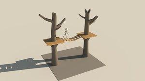 obj treehouse tree
