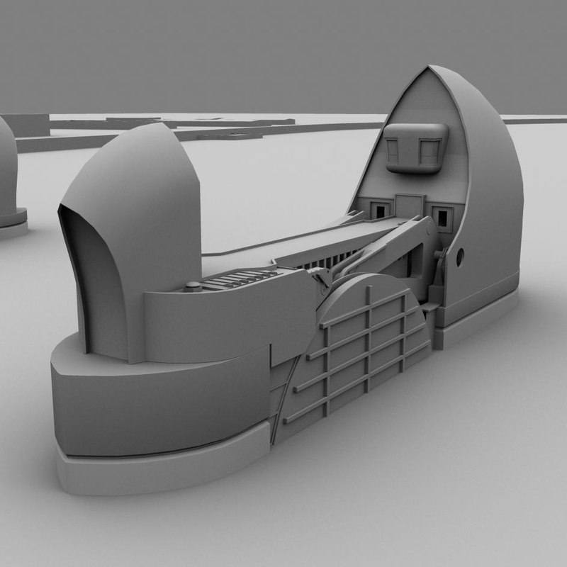 thames barrier 3d model