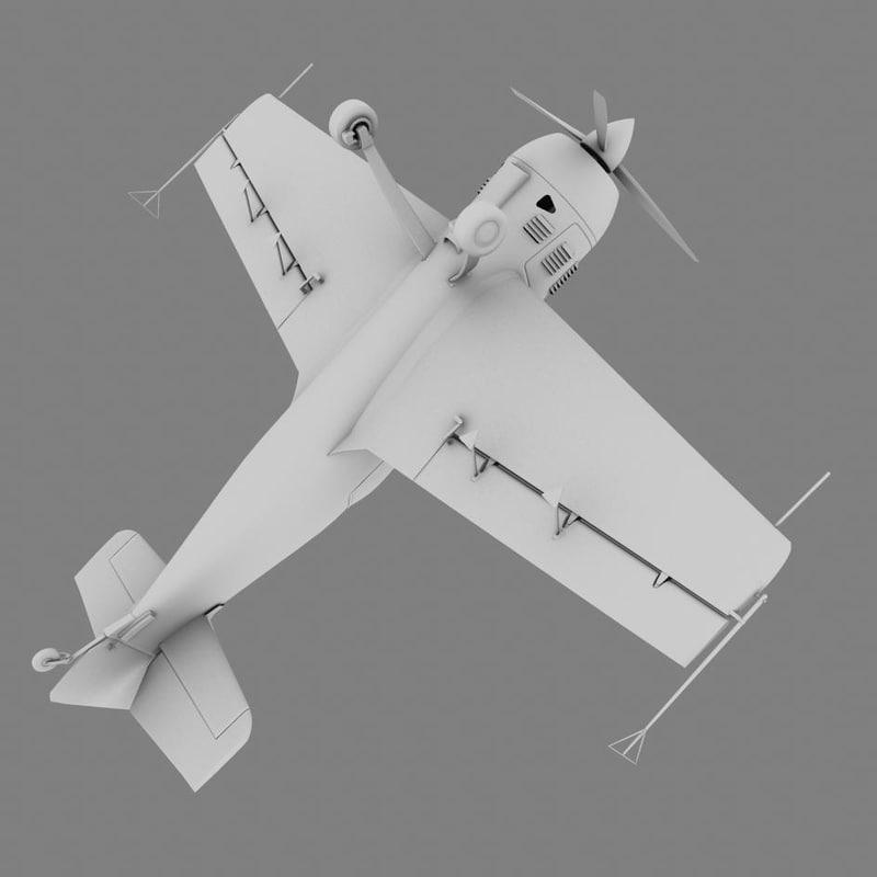 3d model sukhoi stunt plane