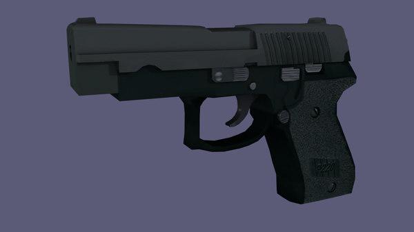 p220 handgun 3d obj