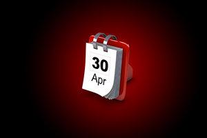3d model calender date