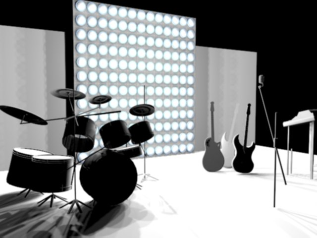 3d model set drum ovation guitars