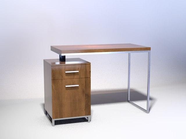 free desk cabinet 3d model