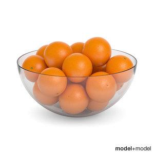 max oranges glass bowl
