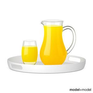 max pitcher glass orange juice