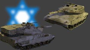 israeli tank merkava 4 3d model
